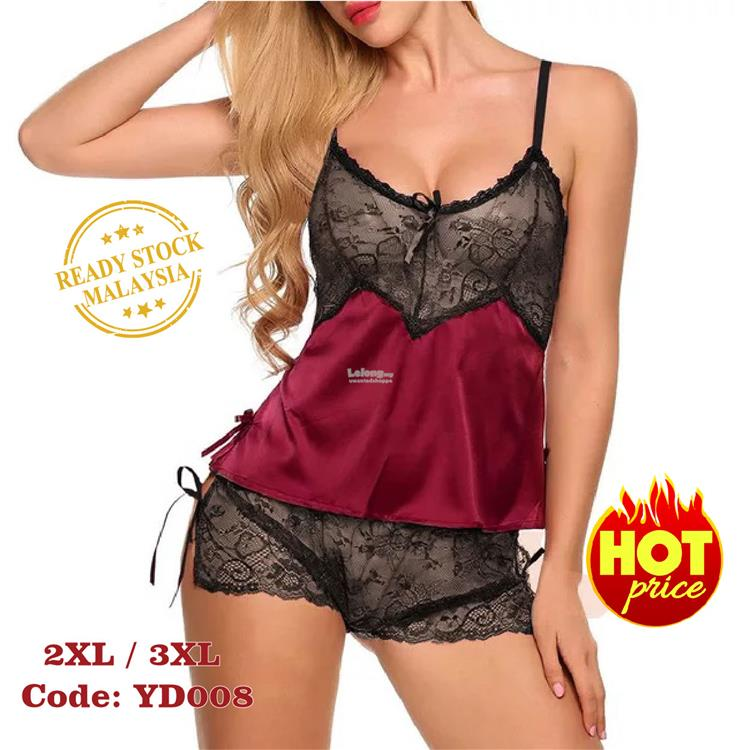 9ec4ab31420 Plus Size Lace sexy pajamas sexy underwear perspective set. ‹ ›