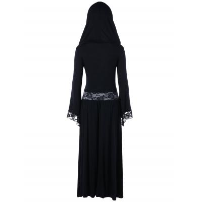 fb1af7026ad851 Plus Size Lace Trim Hooded Maxi Dr (end 11/10/2021 12:00 AM)