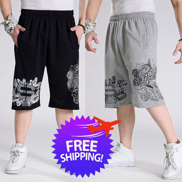 Plus Size for Men Knee Length Sports Casual Short Pants
