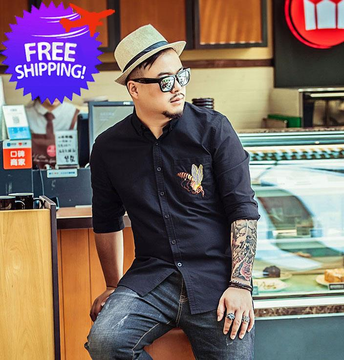 65d1accbe4e Plus Size for Men Long Sleeve Smart and Casual Shirt Size 2XL to 7XL. ‹ ›