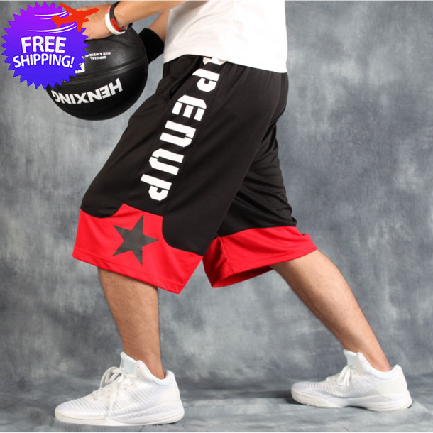 Plus Size Men Short Sports Pants Knee Length Loose Fit