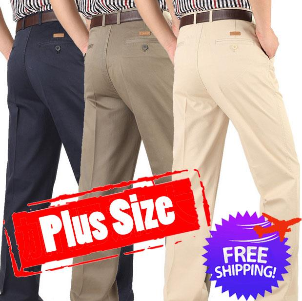 Plus Size for Men Straight Cut Long Trouser Pants Size 30 to 49