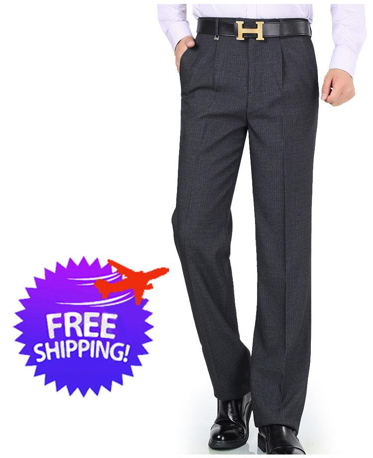 Plus Size for Men Straight Cut Long Trousers Pants Size 30 to 52