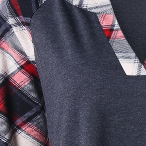52653f23f194f PLUS SIZE RAGLAN SLEEVE PLAID TOP ( (end 3 26 2021 12 00 AM)