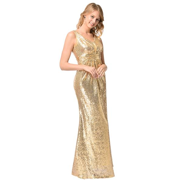 Plus Size S 2xl Bling Gold Birdmate Wedding Dinner Luxury Dress