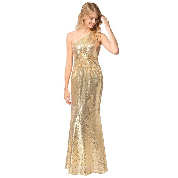 Plus Size S 2xl Gold Birdmate Wedding Dinner Cross Shoulder Dress