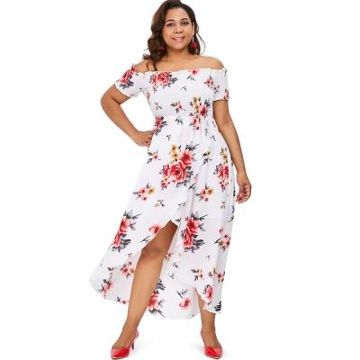 5e13b7d3b3d71 Plus Size Off Shoulder Floral Maxi (end 3/22/2021 12:00 AM)