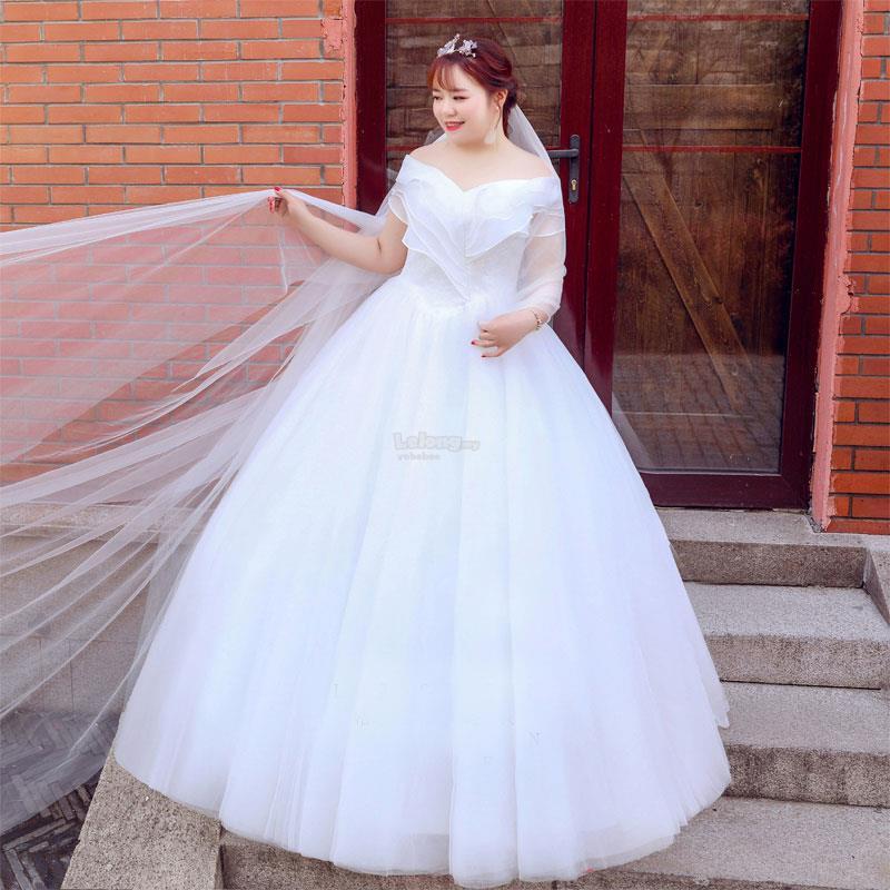Plus Size Off Shoulder Wedding Dres End 2 26 2019 1215 PM