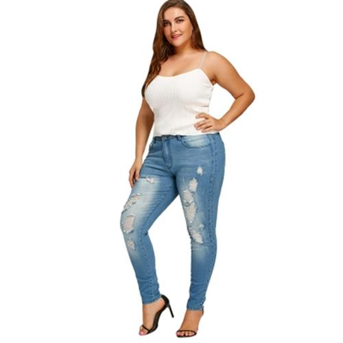 1dedd62ef23 PLUS SIZE SLIM FITTED RIPPED JEANS ( (end 8/16/2020 2:56 PM)