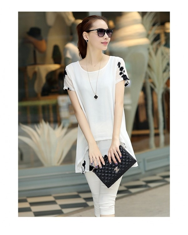 df263a3b67d PLUS SIZE STYLISH LOOSE WAIST WHITE SHORT SLEEVE TUNICS TOP JA0001WTP. ‹ ›