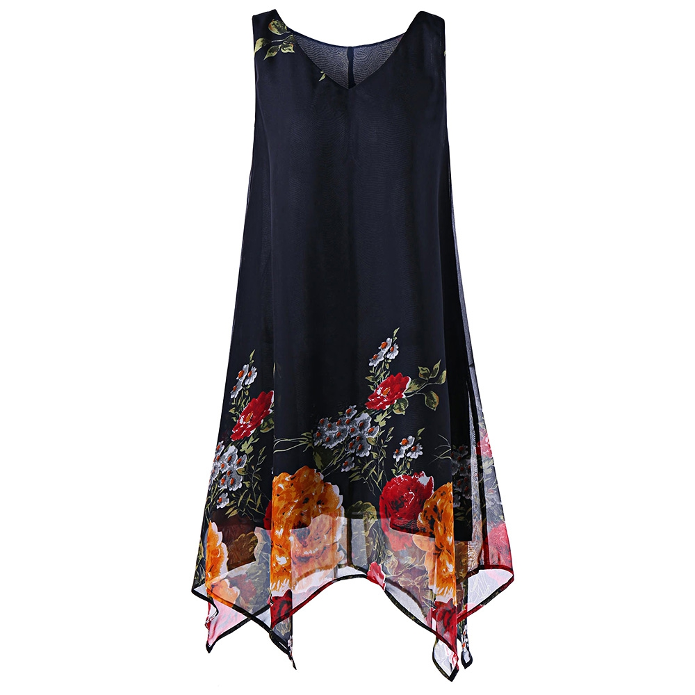 33e1ea61a3728 Plus Size V Neck Floral Handkerchie (end 5 24 2020 10 04 PM)