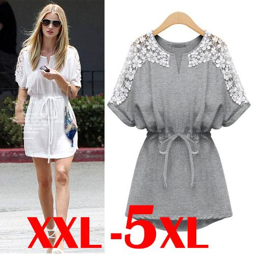 Plus Size Women Summer Casual Cotton (end 6/20/2016 1:55 PM)