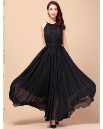 Elegant Black Long Dresses