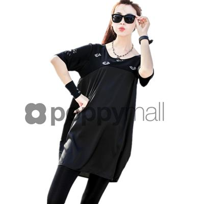 [PM-1813-5786] Stylish Women Fashion Long Top Black