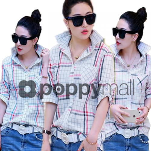 [PM-1917-5830] Fashion Woman Casual Wear Collar Top