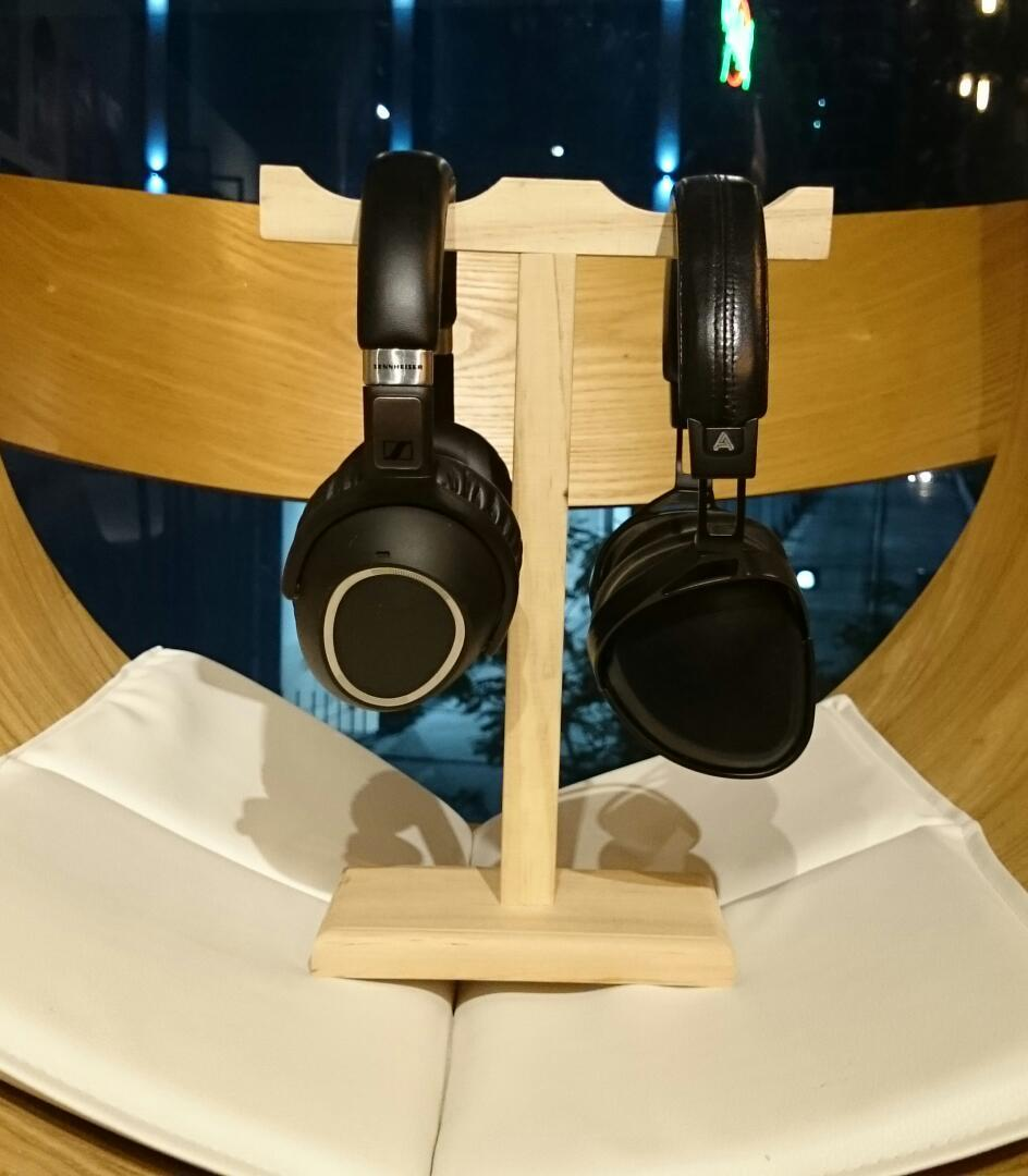 (PM Availability) Art Sound Twins Wooden Headphone Stand