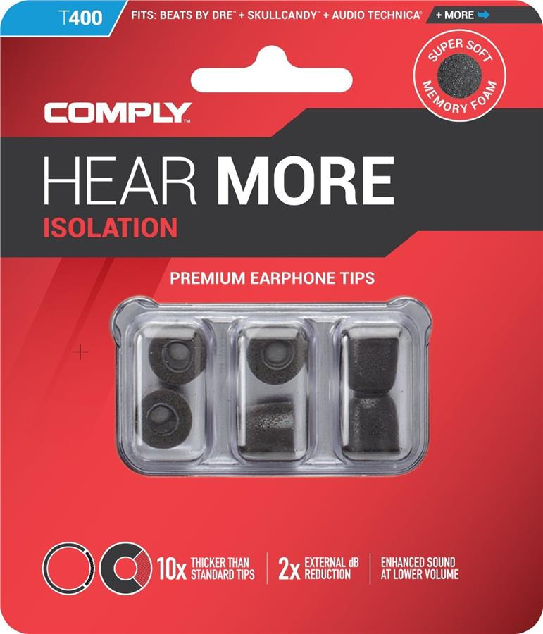 (PM Availability) Comply Isolation Foam Eartips T-400 / T400 3 Pair
