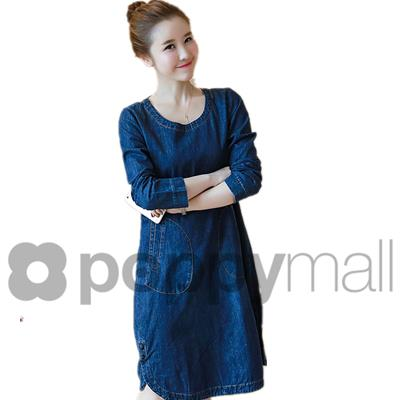 [PM17-211-3810 NEW] Fashion Denim Dress Blue