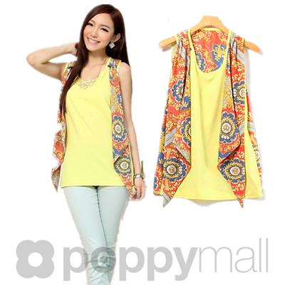[PM17-287-7021] One Piece Top Yellow
