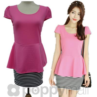 [PM17-297-3647] One Piece Dress Pink