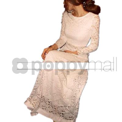 [PM17-405-6729 NEW] Lace Top and Skirt White (1 Set)