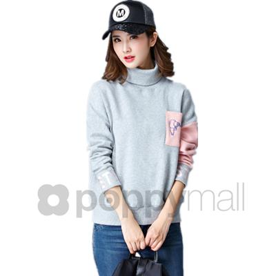 [PM17-469-7351] Fashion Top Grey