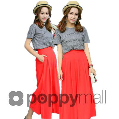 [PM17-75-7166] Fashion Loose Pant Red
