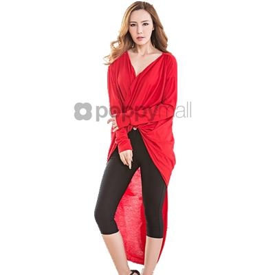 [PM18-642-21053 NEW] Stylish Top Red