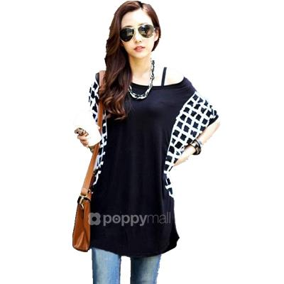 [PM18-646-21131 NEW] Stylish Top Black