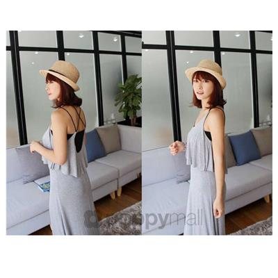 [PM18-731-21354 NEW] Fashion Maxi Dress Grey