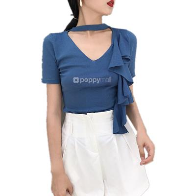 [PM18-853-12307] Stylish Top Blue