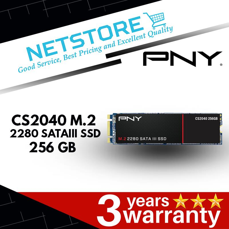 PNY CS2040 M.2 2280 SATA III 256 GB SSD -Read to 560MB/s | 5x faster