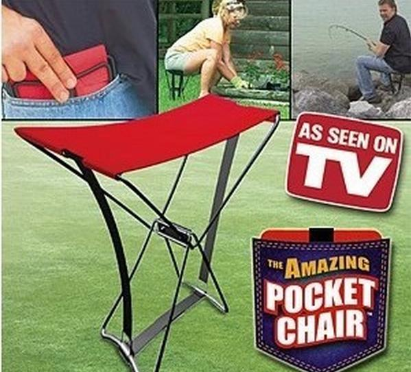 Delightful Pocket Chair Part - 5: POCKET CHAIR Folding Fishing Gardening Seat Anywhere Portable Mini