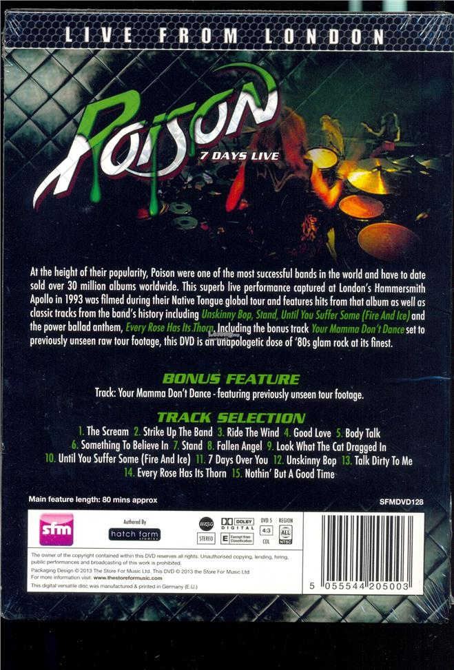 Poison Live From London - New Live DVD