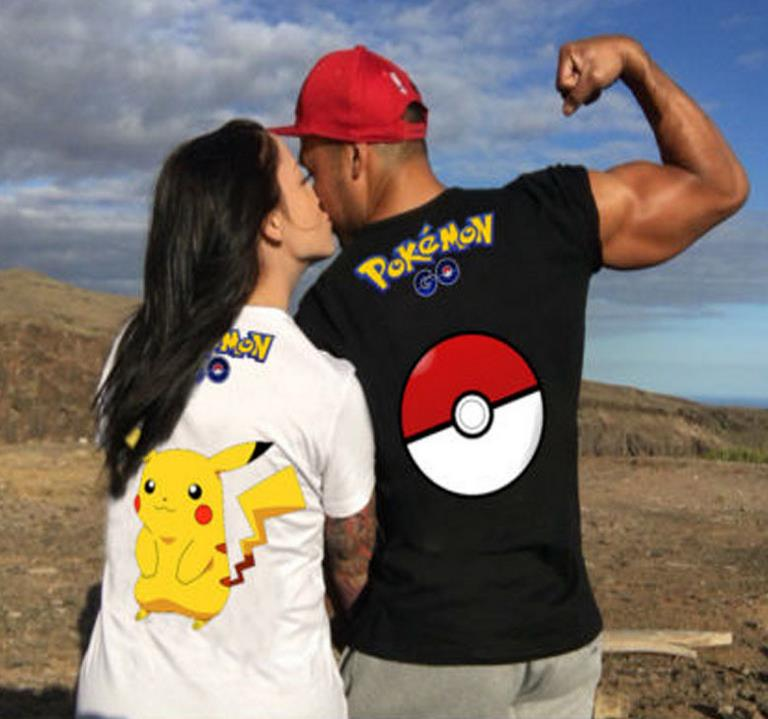 Pokemon Couple Casual Tee Shirt Wear