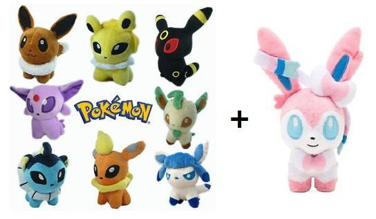 Pokemon Eevee Evolution Pokedoll Series 9 Pcs 1set