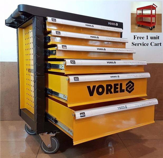 POLAND Vorel YT-58539 6 Drawer Tool Chest Only ID30379