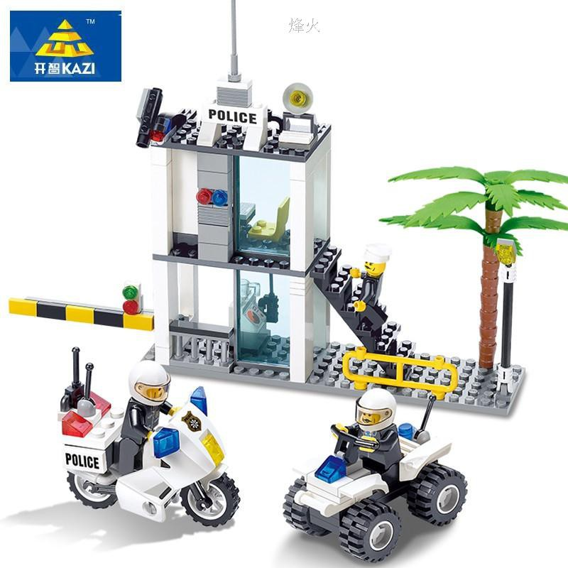 Police Command Center Buliding Blocks compatible Lego City Toys toy