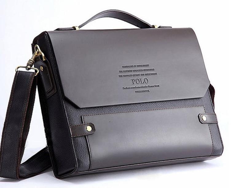 Polo Bag Men S Genuine Leather Blocking Secure Shoulder