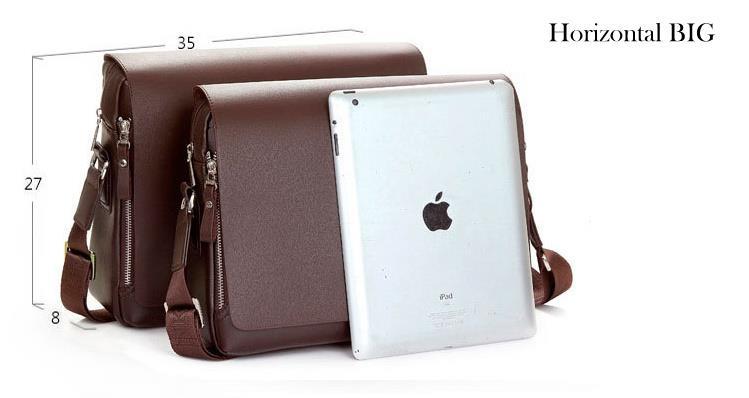 Polo Fanke Men Genuine Leather PU Shoulder Bag Messenger Bags Handbag a27ae47e7f77d