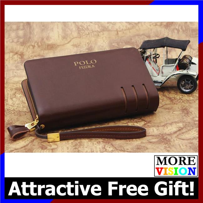 POLO FEIDKA Genuine Leather Clutch Bag Men Long Wallet Hand Carry Bag. ‹ › dee4be498a5d8