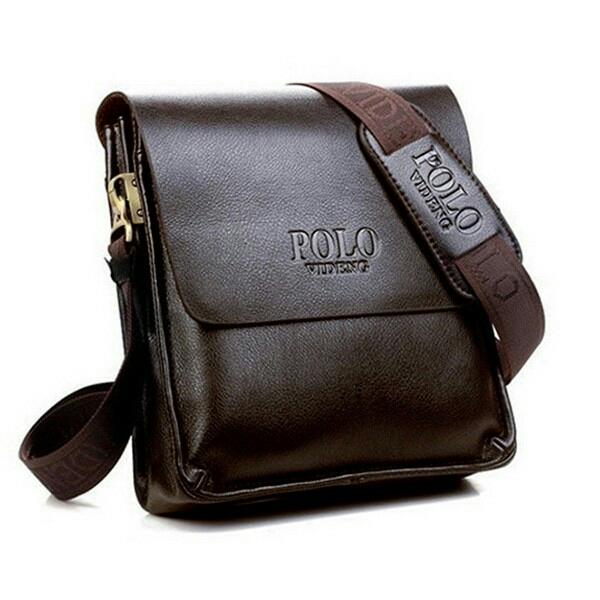 91975ae36800 Polo Men Leather Sling Shoulder Cross Body Man Bag Brown. ‹ ›