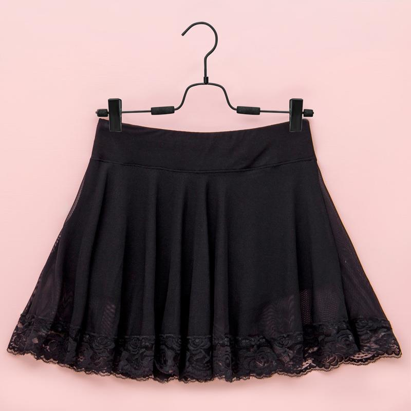 Polyester Skirt with Inner Shorts (Black)