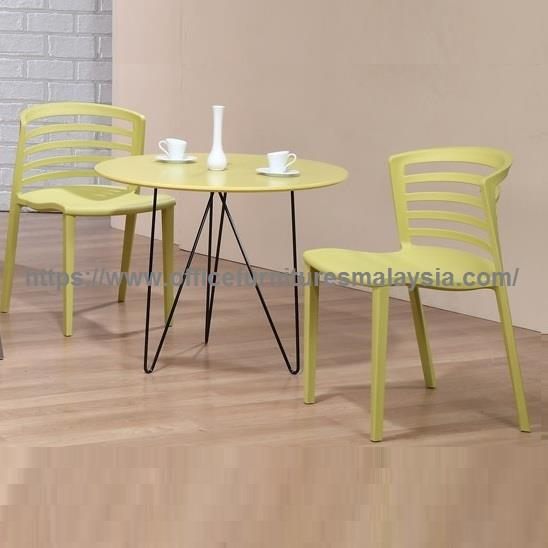 Polypropylene Plastic Dining Table And Chair Set YGCDS-ST893D892Y/GY