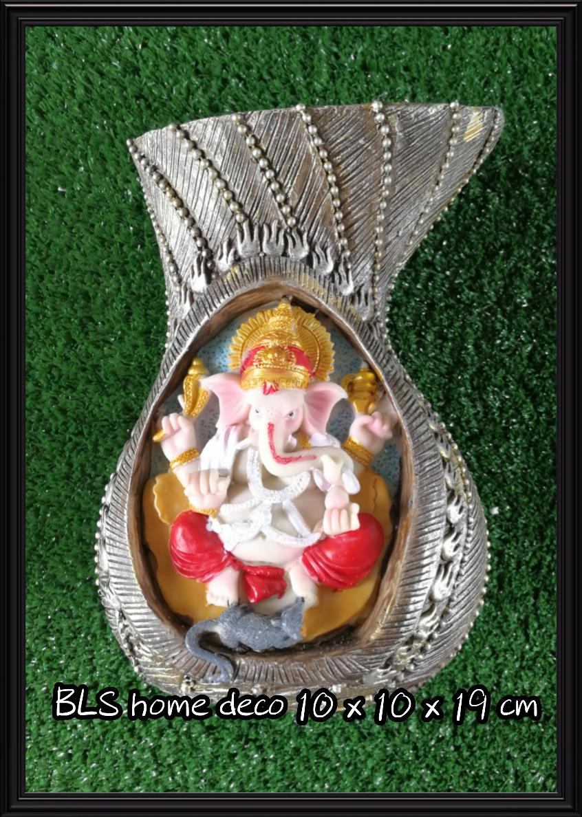 POLYRESIN INDIA GANESHA STATUE VASE 991B HOME GARDEN DECORATION GIFTS