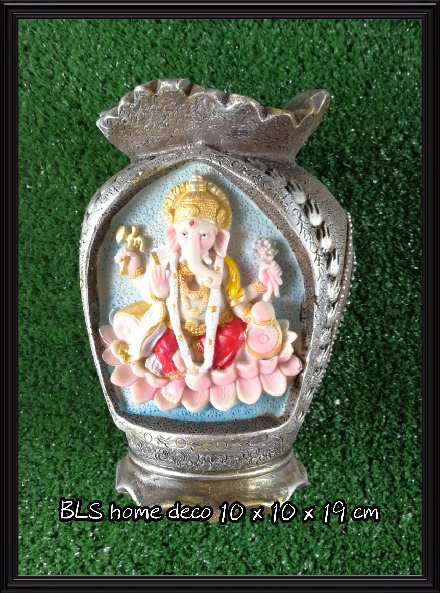 POLYRESIN INDIA GANESHA STATUE VASE 991C HOME GARDEN DECORATION GIFTS