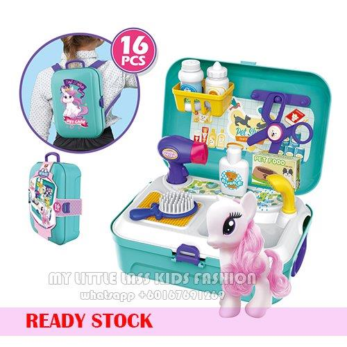 New Pony Pet Shop Suitcase Backpack Playset Toy