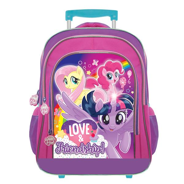 MY LITTLE PONY PURPLE PRIMARY SCHOOL TROLLEY BAG