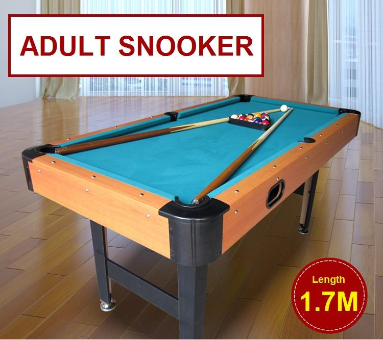 Pool Table Snooker Family Billiard 1.7 Meter Free Ship