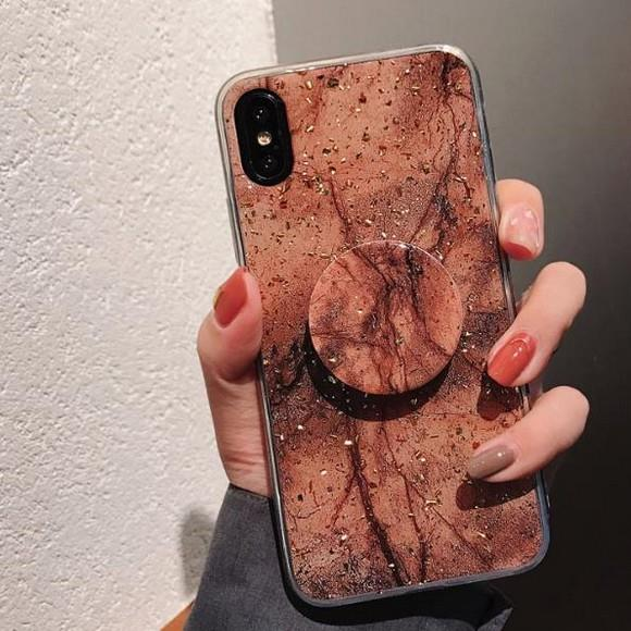 Pop Up Stand Case iPhone 6 7 8 Plus X Xs Max XR Cover Marble Casing
